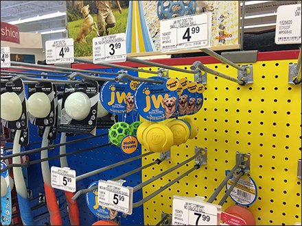 Pet Ball Sales On Straight Entry Scan Hooks