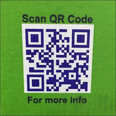 California Pistachio QR Code Closeup Square