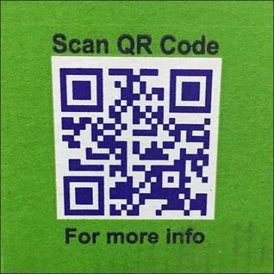 California Pistachio QR Code Closeup Square