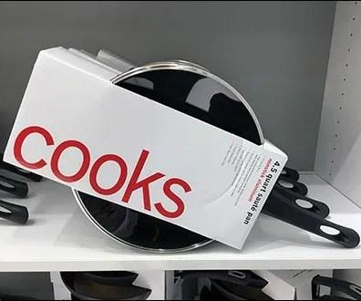 Cooks Cookware Diagonal Merchandising 2