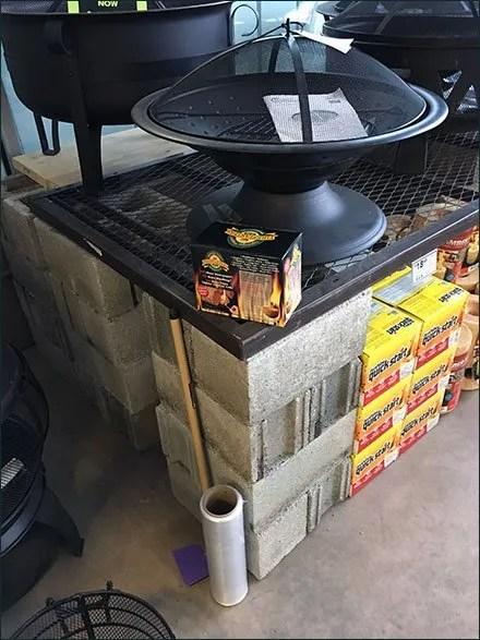 Firepit Grill D I Y Expanded Metal Platforms Fixtures