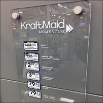 KraftMaid Acrylic Plaque For Bath Pricing