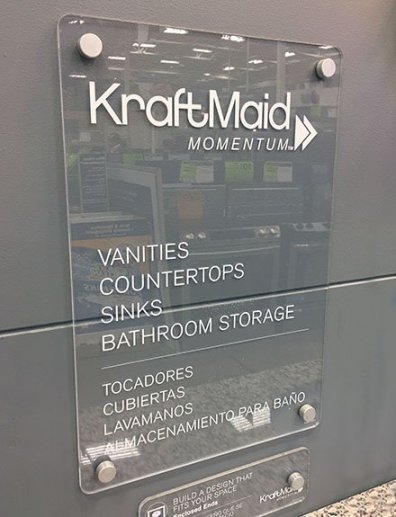 KraftMaid Acrylic Plaque For Bath Pricing