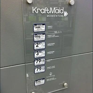 Kraft Maid Acrylic Bath Signs 3
