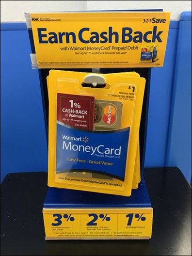 Money Card Freestanding Cash Back Offer