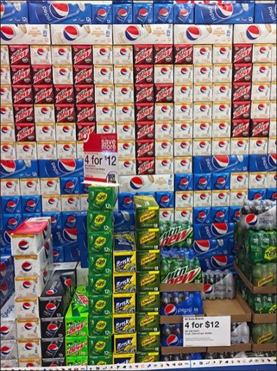 NFL Super Bowl Planogram For Pepsi & Mtn Dew