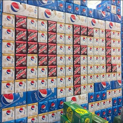 NFL Super Bowl Planogram For Pepsi and Mtn Dew