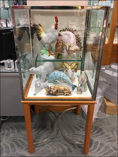 Museum Case Menagerie of Fine Porcelain
