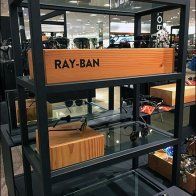 Ray-Ban Wood Block Branding at Nordstrom