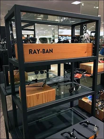 Ray-Ban Wood Block Branding at Nordstrom