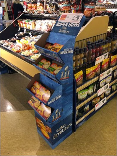 Tostitos Super Bowl Dipetizers Corrugated Display 2