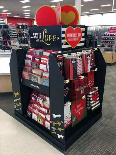 Valentine's Day Gift Wrap-Up Island Display
