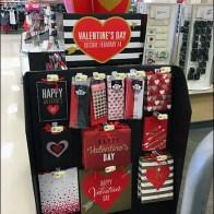 Valentine's Day Gift Wrap-Up Island Display