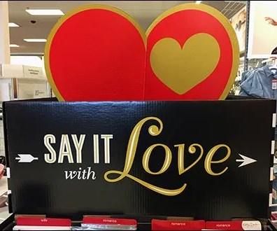 Valentine's Day Gift Wrap Island Display