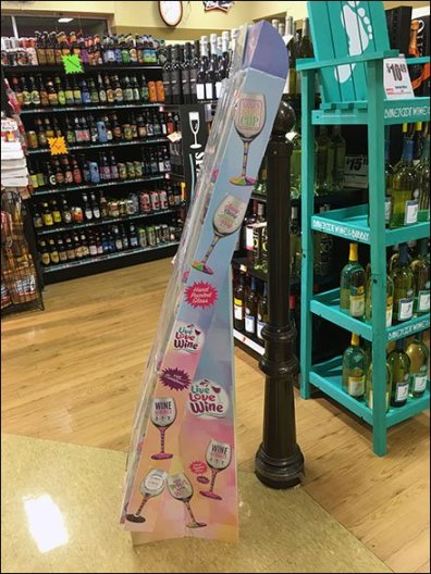Wine Glass Corrugated Display 2