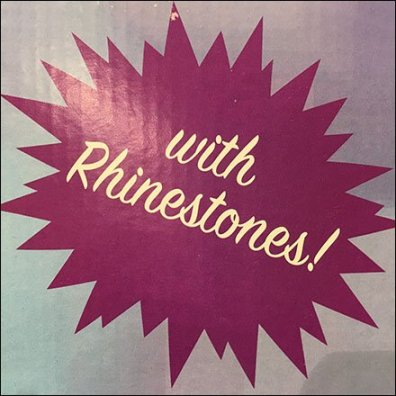 Wine Glass Rhinestones Splat