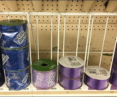 Ribbon Spool Rack Is Base Deck & Aisle Long