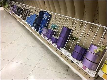 Ribbon Spool Rack Is Base Deck & Aisle Long