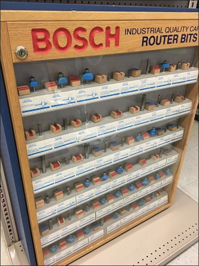 Bosh Router Endcap Display Case 2