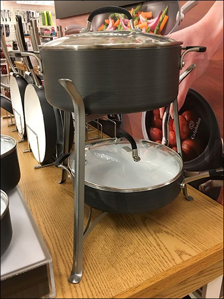 Calphalon Cookware Tower Stands on Its Own