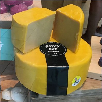 Cheese Wheel Soap Visual Merchandising