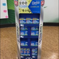 Claritin Hexagonal Cardboard RiteAid POP 3