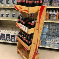 Coca Cola Coke Wood Wire Divided Rack 3