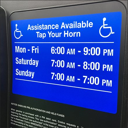 Costco Handicapped Gas Pump Assistance Feature