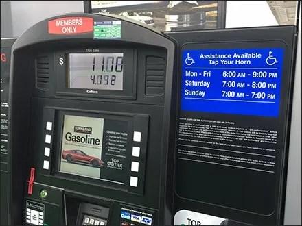 handicapped gas pump help at costco