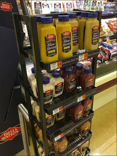 Dietz and Watson Condiments Display Tower