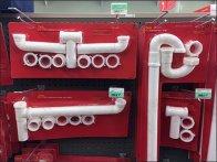 PVC Twin Hooked Gooseneck and Outlet Drains