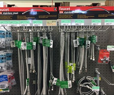 Open Wire Faucet Connector Rack for Pegboard