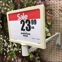 Floral Wreath Heavy-Duty Sign Holder Arm