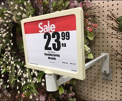 Floral Wreath Heavy-Duty Sign Holder Arm