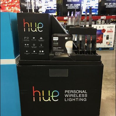 Hue Corrugated Lighting Display 3