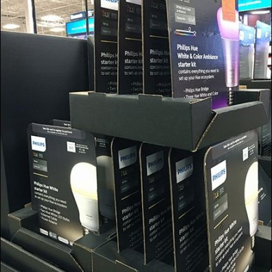 Hue Lighting Right-Angle Merchandising