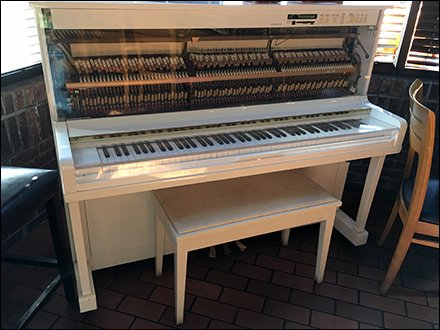 Piano Merchandising And Outfitting - Player Piano as In-Store Cafe Amenity and Entertainment