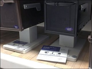 Mailbox Shelf-Top Post Stand 2