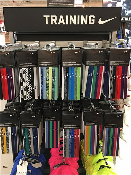 Headband Store Fixtures - Nike Headband Hangers Hook In Training
