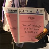 Pink of London Business Times Newspaper Prop