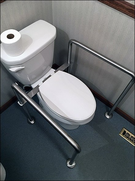Handicapped Toilet Assist Grab Bar Add-On