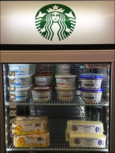 Goldteins StarBucks Cheese Cooler Repurposing