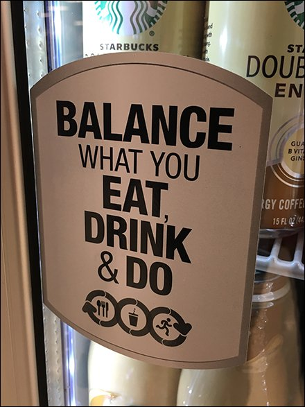 Starbucks Balance What You Eat, Drink, and Do