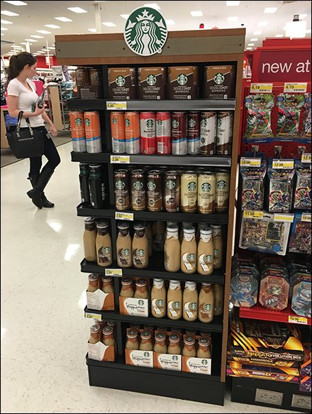 Starbucks Endcap Display Ambient and Chilled