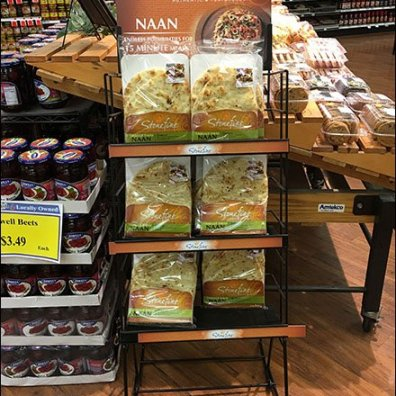 Stonefire Naan Flatbread Rack Merchandising