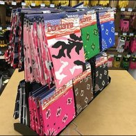 Tractor Supply Company Two-Way Table-Top Bandana Boxer Display
