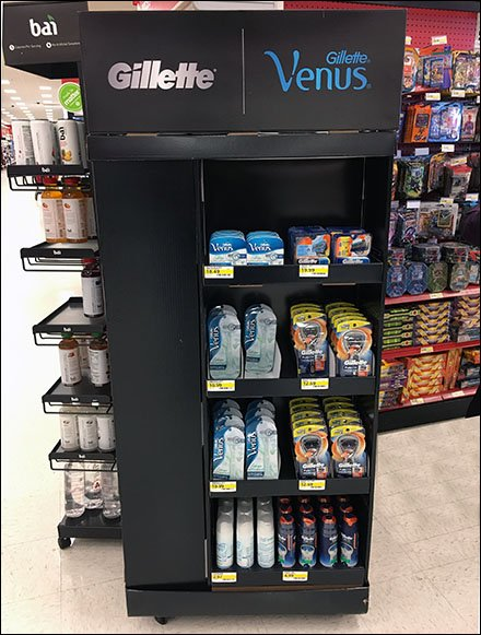 Venus and Gillette Razor Point-of-Purchase Offensive