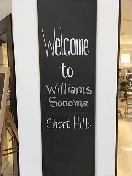 Williams Sonoma Short Hills Shopping Safari
