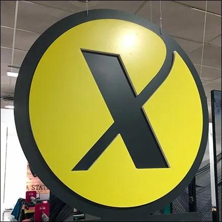 Xersion Circular Branding Ceiling Sign