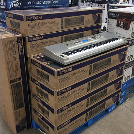 Yamaha Portable Grand Keyboard Pallet Display Feature